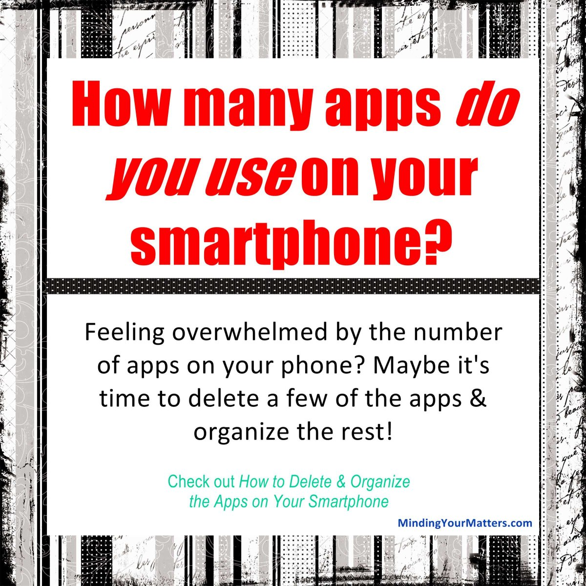 10 Organizing Apps: QUICK! Without Looking At Your Smartphone (or Leaving This